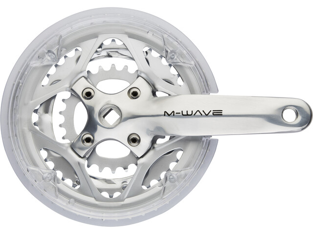 M-ighty Crankset 3-speed 48-38-26 teeth with protective screen silver